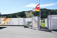 Eingang zum Trainingsgelände der Nationalmannschaft - Seefeld 26.05.2021: Trainingslager der Deutschen Nationalmannschaft zur EM-Vorbereitung