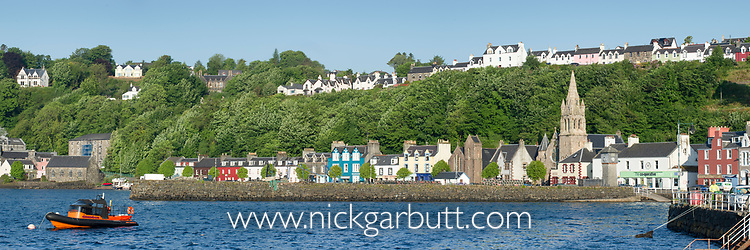 Tobermory harbour sea front. Isle of Mull, north west Scotland. June.