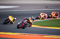 VALENCIA, SPAIN - NOVEMBER 8:Simone Corsi  during Valencia MotoGP 2015 at Ricardo Tormo Circuit on November 8, 2015 in Valencia, Spain