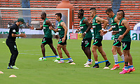 MEDELLIN - COLOMBIA, 02-05-2021: Atlético Nacional y La Equidad en partido por los cuartos de final vuelta de la Liga BetPlay DIMAYOR I 2021 jugado en el estadio Atanasio Girardot de la ciudad de Medellín. / Atletico Nacional and La Equidad in match for the quarterfinal second leg as part of BetPlay DIMAYOR League I 2021 played at Atanasio Girardot stadium in Medellín city. Photo: VizzorImage / Donaldo Zuluaga / Cont