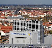 Stadtansichten 2009 - Blick vom Wintergartenhochhaus - Heizhaus der Stadtwerke Leipzig - Energieversorger Energiepreise Ökostrom kommunale Betriebe Heizung Heizkosten Energieversorgung . Foto: Norman Rembarz..Norman Rembarz , ( ASV-Autorennummer 41043728 ), Holbeinstr. 14, 04229 Leipzig, Tel.: 01794887569, Hypovereinsbank: BLZ: 86020086, KN: 357889472, St.Nr.: 231/261/06432 - Jegliche kommerzielle Nutzung ist honorar- und mehrwertsteuerpflichtig! Persönlichkeitsrechte sind zu wahren. Es wird keine Haftung übernommen bei Verletzung von Rechten Dritter. Autoren-Nennung gem. §13 UrhGes. wird verlangt. Weitergabe an Dritte nur nach  vorheriger Absprache..