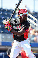Dazmon Cameron (24) of Eagle's Landing Christian Academy in McDonough, Georgia during the Under Armour All-American Game practice on August 15, 2014 at Les Miller Field in Chicago, Illinois.  (Mike Janes/Four Seam Images)