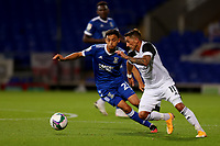 16th September 2020; Portman Road, Ipswich, Suffolk, England, English Football League Cup, Carabao Cup, Ipswich Town versus Fulham; Anthony Knockaert of Fulham takes on Andre Dozzell of Ipswich Town