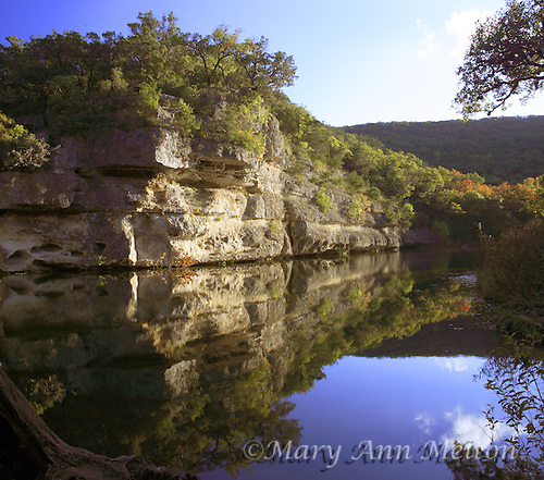 The Pond and reflection at Lost Maples State Natural Area