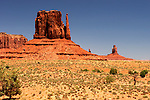 Butte in Monument Valley in Arizona, USA