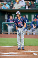 Michael Wilson (11) of the Rocky Mountain Vibes at bat against the Ogden Raptors at Lindquist Field on July 4, 2019 in Ogden, Utah. The Raptors defeated the Vibes 4-2. (Stephen Smith/Four Seam Images)