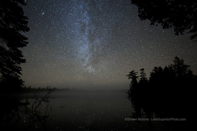 photos, pictures, images, Upper Peninsula Michigan night sky,moon, milky way