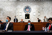Members of the Senate Judiciary Committee participate in a business meeting on the fourth day of the confirmation hearing for Judge Amy Coney Barrett, President Donald Trump's Nominee for Supreme Court, in Hart Senate Office Building in Washington DC, on October 15th, 2020.<br /> Credit: Anna Moneymaker / Pool via CNP /MdeiaPunch