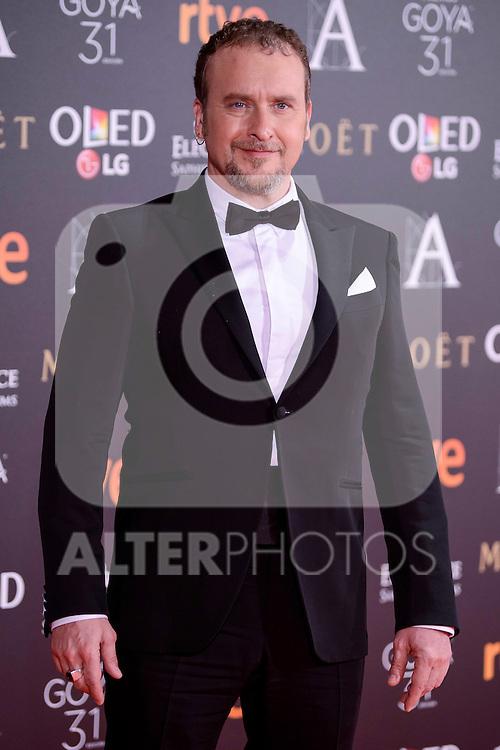 Fernando Cayo attends to the Red Carpet of the Goya Awards 2017 at Madrid Marriott Auditorium Hotel in Madrid, Spain. February 04, 2017. (ALTERPHOTOS/BorjaB.Hojas)