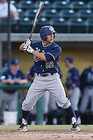 Chris Rabago #22 of the UC Irvine Anteaters bats against the Southern California Trojans at Dedeaux Field on April 29, 2014 in Los Angeles, California. Stanford defeated Southern California, 6-2. (Larry Goren/Four Seam Images)