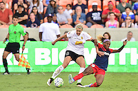 Houston, TX - Sunday Oct. 09, 2016: Alanna Kennedy, Crystal Dunn during the National Women's Soccer League (NWSL) Championship match between the Washington Spirit and the Western New York Flash at BBVA Compass Stadium.