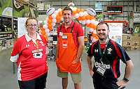 L-R Kath Sillitoe, Justin Tipuric and Jon Parry