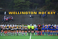 Auckland Blue v North Harbour 1 final. Under-18 Hockey Tournament finals day at National Hockey Stadium in Wellington, New Zealand on Saturday, 17 July 2021. Photo: Dave Lintott / lintottphoto.co.nz https://bwmedia.photoshelter.com/gallery-collection/Under-18-Hockey-Nationals-2021/C0000T49v1kln8qk