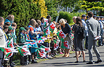 PCamilla, Dutchess of Cornwall visits Victoria Park in Swansea today to help celebrate the 50th anniversary of Swanseas achieving City status.
