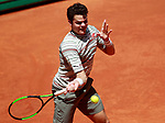 Milos Raonic, Canada, during Madrid Open Tennis 2018 match. May 10, 2018.(ALTERPHOTOS/Acero)