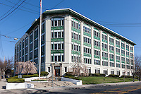 The landmark Life Savers building in Port Chester, New York.  Life Savers produced hard candy here from 1920 to 1985, when the operation closed and the building was subsequently sold and converted to condos.