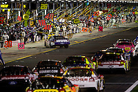 Drives make their way down pit road during the Bank of America 500 NASCAR race at Lowes's Motor Speedway in Concord, NC.