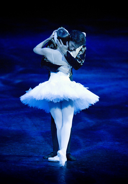 English National Ballet perform Derek Deane's production of Swan Lake in the round at the Royal Albert Hall