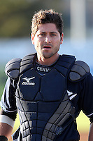 Empire State Yankees catcher Francisco Cervelli #3 during a game against the Pawtucket Red Sox at Dwyer Stadium on May 5, 2012 in Batavia, New York.  Pawtucket defeated Empire State 9-3.  (Mike Janes/Four Seam Images)