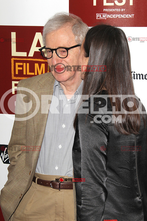Woody Allen and Soon-Yi at Film Independent's 2012 Los Angeles Film Festival Premiere of 'To Rome With Love' at Regal Cinemas L.A. LIVE Stadium 14 on June 14, 2012 in Los Angeles, California. ©mpi21/MediaPunch Inc. NORTEPHOTO.COM<br /> NORTEPHOTO.COM<br /> *credito*obligatorio*<br /> *SOLO*VENTA*EN*MEXICO*