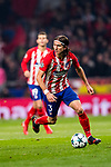 Filipe Luis of Atletico de Madrid runs with the ball during the UEFA Champions League 2017-18 match between Atletico de Madrid and AS Roma at Wanda Metropolitano on 22 November 2017 in Madrid, Spain. Photo by Diego Gonzalez / Power Sport Images