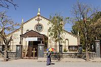 ETHIOPIA , Dire Dawa, catholic church / AETHIOPIEN, Dire Dawa, St. Augustine Katholische Kirche der kapuziner
