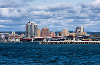 City skyline, New Haven, Connecticut, USA.
