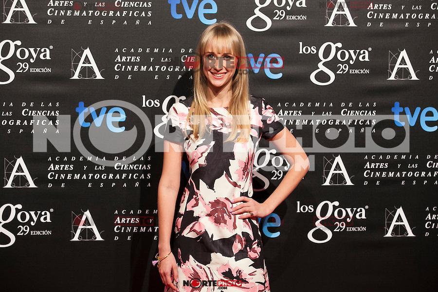 Ingrid Garcia Johnson poses before the 2015 Goya Awards nominee ceremony in Madrid, Spain. January 19, 2015. (ALTERPHOTOS/Victor Blanco)