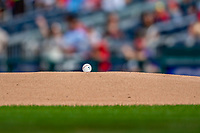 22 September 2018: The first pitch baseball lies ready on the mound prior to a game between the Washington Nationals and the New York Mets at Nationals Park in Washington, DC. Starting pitcher Austin Voth recorded his first Major League career win as the Nationals shut out the Mets 6-0 in the 3rd game of their 4-game series. Mandatory Credit: Ed Wolfstein Photo *** RAW (NEF) Image File Available ***