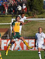 Ricardo Clark of USA and Richard Garcia of Australia....Football - International Friendly - USA v Australia - Ruimsig Stadium