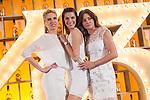 Spanish models (L-R) Judit Masco, Laura Sanchez and Jose Toledo pose during Licor 43 presentation in Madrid, Spain. January 29, 2015. (ALTERPHOTOS/Victor Blanco)