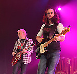 Alex Lifeson and Geddy Lee of the Canadian classic rock band RUSH perform at the 1st Mariner Arena in Baltimore, Maryland April 22, 2011. .Copyright EML/Rockinexposures.com.