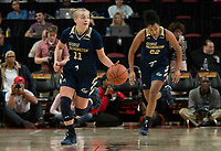 COLLEGE PARK, MD - NOVEMBER 20: Tori Hyduke #11 of George Washington starts an attack during a game between George Washington University and University of Maryland at Xfinity Center on November 20, 2019 in College Park, Maryland.