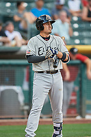 Allen Craig (11) of the El Paso Chihuahuas bats against the Salt Lake Bees at Smith's Ballpark on July 5, 2018 in Salt Lake City, Utah. El Paso defeated Salt Lake 3-2. (Stephen Smith/Four Seam Images)