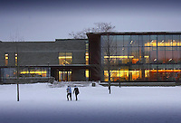 Various campus snow scenes photo. Skillman Library...4192