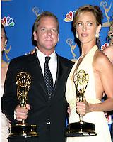 Kiefer Sutherland and Kim Raver.58th Primetime Emmy Awards.Shrine Auditorium.Los Angeles, CA.August 27, 2006.©2006 Kathy Hutchins / Hutchins Photo....