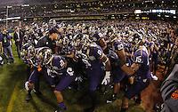 San Francisco, California - Friday, Dec. 27, 2013: The University of Washington defeated BYU 31-16 at the 2013 Fight Hunger Bowl at AT&T Park.