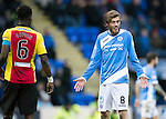 St Johnstone v Partick Thistle…11.02.17     Scottish Cup    McDiarmid Park<br />Murray Davidson has words with referee Steven Mclean<br />Picture by Graeme Hart.<br />Copyright Perthshire Picture Agency<br />Tel: 01738 623350  Mobile: 07990 594431