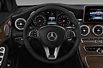 Car pictures of steering wheel view of a 2017 Mercedes Benz C-Class - 2 Door Convertible Steering Wheel