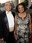 Omana and Sam Abraham at the Houston Symphony's opening night at Jones Hall Saturday Sept. 12,2015.(Dave Rossman photo)