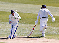 Yorkshire's Jonathan Tattersall just fails to run out Kent's Darren Stevens during Kent CCC vs Yorkshire CCC, LV Insurance County Championship Group 3 Cricket at The Spitfire Ground on 16th April 2021