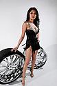 AJ ALEXANDER/APA - Product-Tire Rims with Model Melyssa Herrera<br /> Photo by AJ ALEXANDER