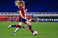 SAITAMA, JAPAN - JULY 24: Sam Mewis #3 of the United States during a game between New Zealand and USWNT at Saitama Stadium on July 24, 2021 in Saitama, Japan.