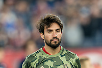 FOXBOROUGH, MA - AUGUST 24: Nicolas Gaitan #20 of Chicago Fire during a game between Chicago Fire and New England Revolution at Gillette Stadium on August 24, 2019 in Foxborough, Massachusetts.
