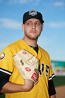 Erie SeaWolves pitcher Matt Hall (21) poses for a photo before a game against the Binghamton Mets on May 14, 2018 at NYSEG Stadium in Binghamton, New York.  Binghamton defeated Erie 6-5.  (Mike Janes/Four Seam Images)