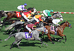 October 3, 2010.Wallstreeter takes the lead in the 5th at Hollywood Park, Inglewood, CA._Cynthia Lum/Eclipse Sportswirt.com