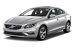 2017 Volvo S60 R-Design 4 Door Sedan Angular Front stock photos of front three quarter view