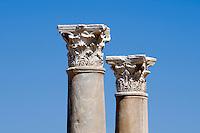 Nordzypern, antike Stadt Salamis, Säulen bei den römischen Bädern