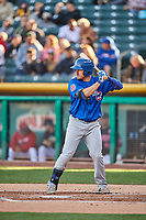 Bijan Rademacher (24) of the Iowa Cubs bats against the Salt Lake Bees in Pacific Coast League action at Smith's Ballpark on May 13, 2017 in Salt Lake City, Utah. Salt Lake defeated Iowa  5-4. (Stephen Smith/Four Seam Images)