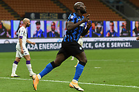 26th September 2020, San Siro Stadium, Milan, Italy; Serie A Football, Inter Milan versus Fiorentina;  Romelu Lukaku celebrates his goal